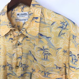 Columbia Mens Button Down Shirt Size Large